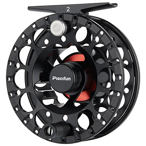 Fly Abel Reels - Piscifun Sword ‖ Light Weight Fly Fishing Reel with CNC-machined Aluminum Alloy Body 3/4 Black