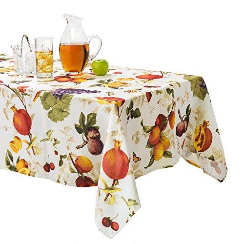Fruit Tablecloth - Benson Mills Botanique Indoor / Outdoor Fruit Design Spillproof Tablecloth (60