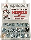 250pc Specbolt Honda CR two stroke Bolt Kit for Maintenance & Restoration of MX Dirtbike OEM Spec Fastener CR80 CR85 CR125 CR250 CR500