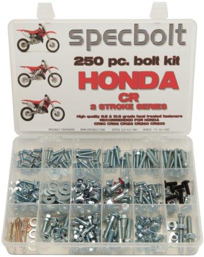 250pc Specbolt Honda CR two stroke Bolt Kit for Maintenance & Restoration of MX Dirtbike OEM Spec Fastener CR80 CR85 CR125 CR250 CR500 500 Skid Pipe