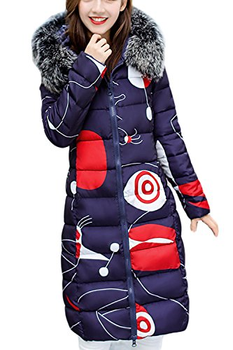 La Double Des Porte Fausse Zilcremo Taille D'hiver Vêtements Et Femmes Fourrure À Manteaux Les 7 Parkas Doublés De Midi qww7v