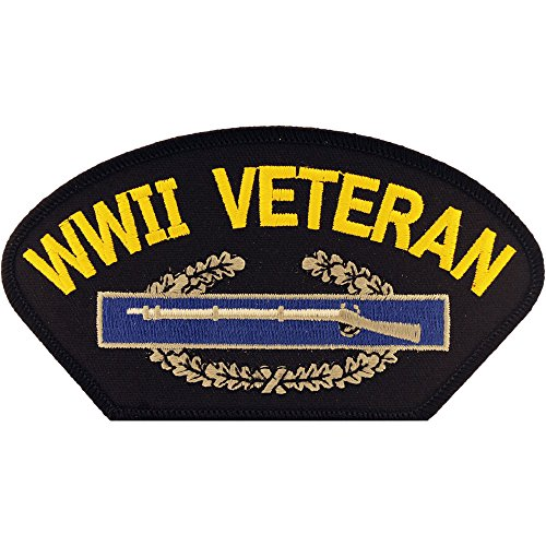 WWII Embroidered Patch Military Collectibles, Patriotic Gifts for Men, Women, Teens, Veterans Great Gift Idea for Wife, Husband, Relative, Boyfriend, Girlfriend, Grandparent, Fiance or Friend. Perfect Christmas Stocking Stuffer or Veterans Day Gift Idea. Design: For Women or Men!