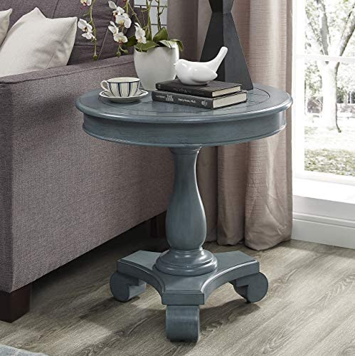 Powell Company Powell Sheryl Side Teal Accent Table, Blue