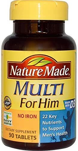 Nature Made, Multi for Him, No Iron, 90 Tablets by Nature Made