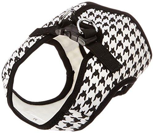 Parisian Pet Step-in Dog Harness, Medium, Black Houndstooth