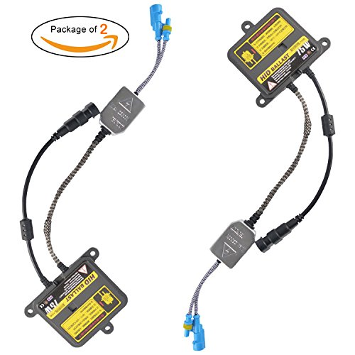 (Package of 2) 75W HID Slim Ballast High CONVERSION,TaiTian Replacement Conversion Kit for Xenon Light Lamp Light For H1 H3 H4 H7 H8 H9 H1 H11 H13 HB1 HB3 HB4 HB5