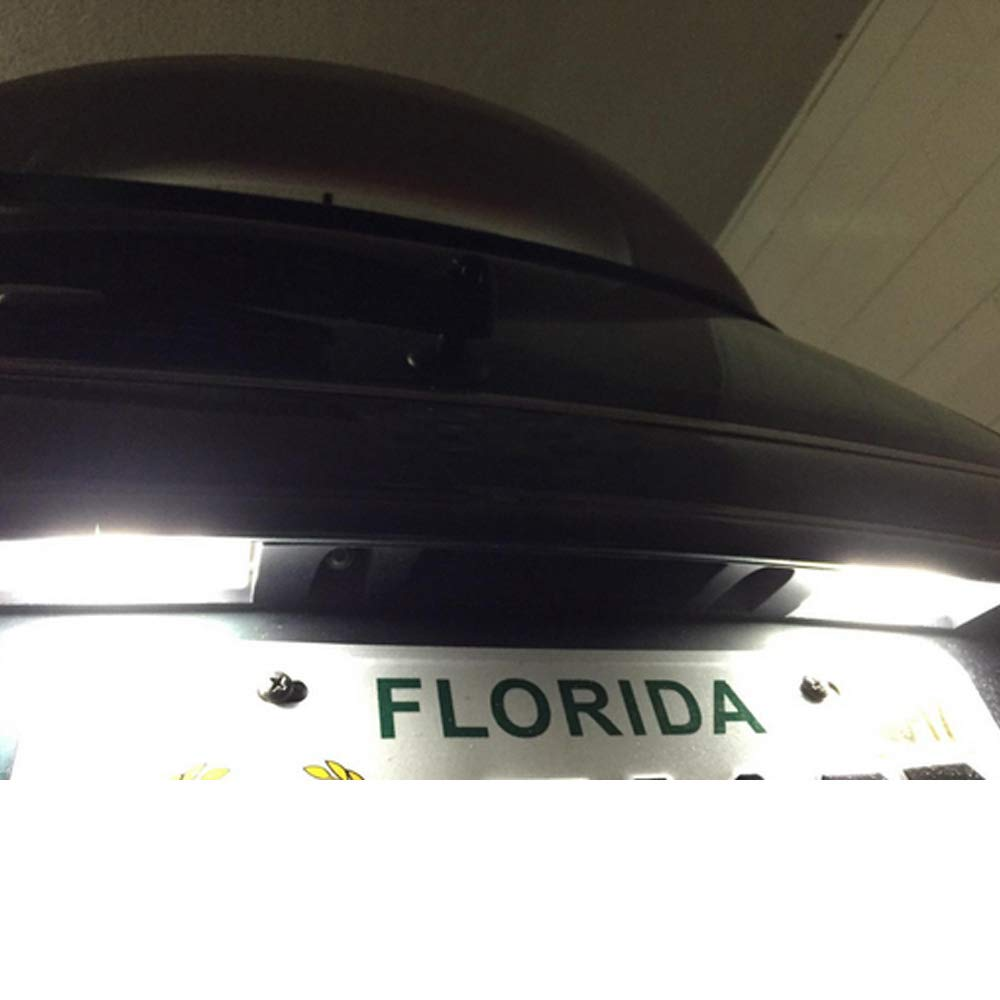 PolarLander 2 PCS Car LED Number Matr/ícula Enciende 6000K Plate Light Bulb para B-MW Mini Cooper S R50 R52 R53