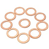 Maintenance & Repair Tools - Nylon Washers Flat Washer Copper Crh Rubber Assortment Metal - 10pcs M6/M8/M12/M14 Copper Washer Motorcycle Atv Brake Fuel Banjo Seal - Rubber Washer Assortment