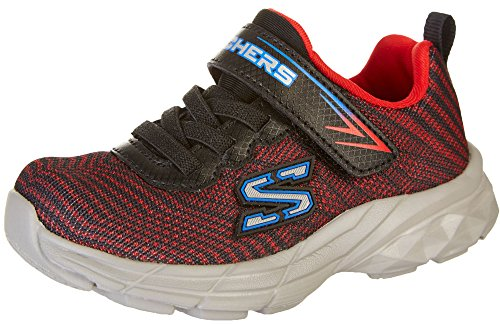 Skechers Kids Boys' Go Run 400-Proxo Sneaker, Black/Red, 11 Medium US Little Kid