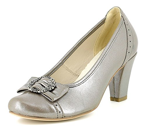 Mujer Zapatos Andrea Conti De Para Plateado Vestir wvwf1RqUxX