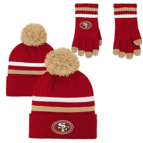47 NFL San Francisco 49ers Embroidered Jacquard Graphic Knit Scarf