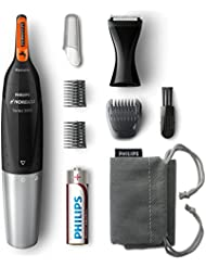Philips Norelco Nose, Ear, and Eyebrow hair trimmer NT5175/49 - facial hair trimmer, precision styler, (series 5000)