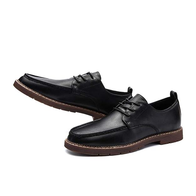 Hombres Casual Zapatos al Aire Libre Transpirable Cuero Mano Costura Mocasines artesanales Oxford Pisos Zapatillas: Amazon.es: Zapatos y complementos