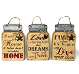 """when i get too old to dream - Family Art Decor Inspirational Wall Sign Plaque Country Farmhouse 11.5"""" x 7.25"""" (Set of 3)"""
