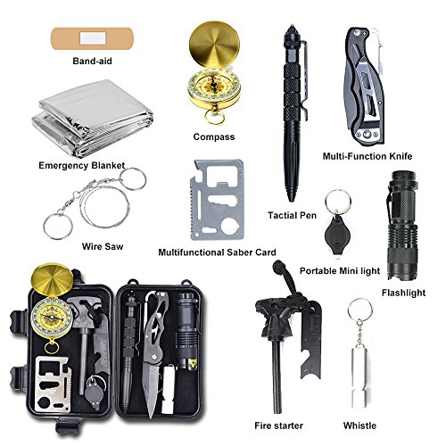 Alritz-Survival-Kit-Lifesaving-Emergency-Tools-Outdoor-Survival-Gear-Contains-Folding-Knife-Compass-Flashlight-for-Camping-Hiking-Wilderness-Adventures-and-Disaster-Preparedness