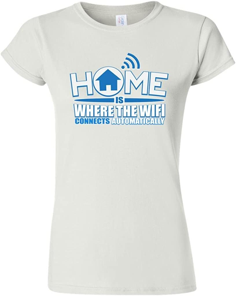 Junior Home is Where The WiFi Connects Automatically DT T-Shirt Tee