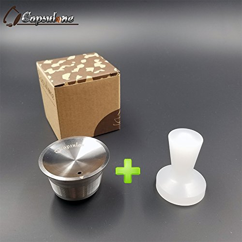 CAPSULONE stainless steel tamper refillable capsule reusable capsules compatible for dolce gusto coffee maker machine by capsulone