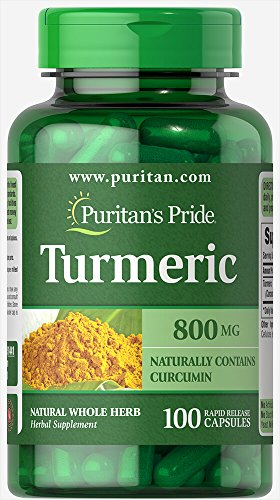 Puritans Pride Turmeric 800 Mg, 100 Count