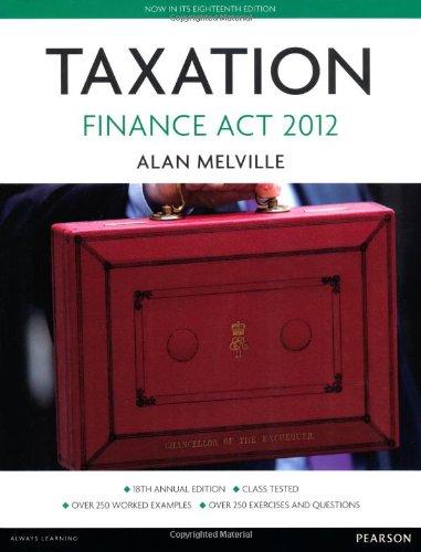 Taxation - Finance Act 2012