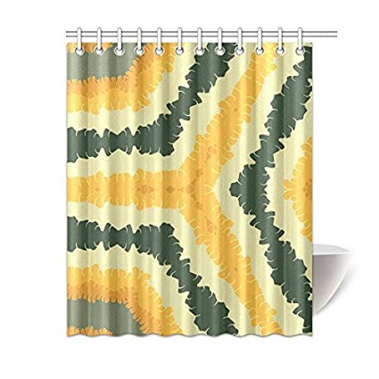 Happy More Custom Autumn Feathered Ribbons Bathroom Waterproof Fabric 60x72 Inch Shower Curtain