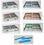 Fedex &1 sillicone free 6units 10Instruments Dental Surgical Sterilization Cassette Tray Racks With Lock