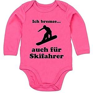 Sport Baby - Snowboard - Ich bremse auch für Skifahrer - 3-6 Monate - Fuchsia...