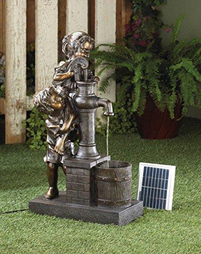 Koehler Home Décor Teamwork Water Pump Solar Fountain