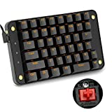 Koolertron Cherry MX Red Programmable Gaming Keypad, Mechanical Gaming Keyboard with 43 Programmable Keys, Single-Handed Keypad Macro Setting, Golden Backlit Can be Turned OFF