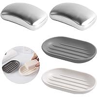 Barra de jabón de acero inoxidable de 2 piezas con jabonera, AIFUDA Utensilios de cocina Jabón mágico Eliminador de…