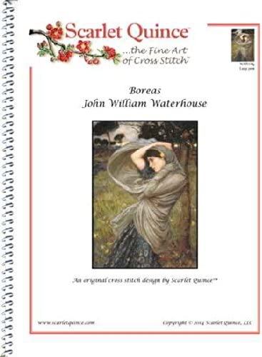 Scarlet Quince WAT018lg Boreas by John William Waterhouse Counted Cross Stitch Chart Large Size Symbols