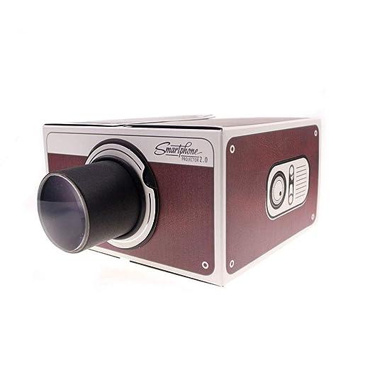 Fangfeen DIY Mini Versión 2.0 Cartón portátil proyector del hogar ...