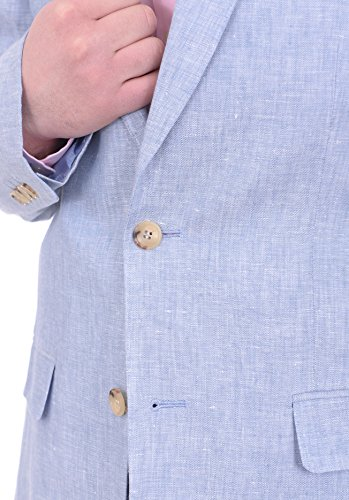 Arthur Black Classic Fit Solid Heather Half Lined Two Button Linen Suit