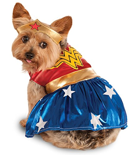Wonder Pets Halloween Costume (DC Comics Pet Costume, Medium, Wonder Woman)