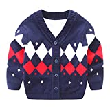 Product review for Iridescentlife Baby Boys Sweater Cardigan,Knitted Organic Cotton Button Crochet for Newborn Baby ,Gray/Navu/Red/Yellow,0-3 months/3-6months/6-9months