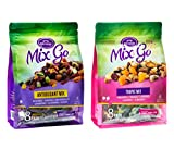 MIX & GO Variety Pack, Single Serve Trail Mix Snack Packs, Healthy Snack Bag, Fruit & Nut (8 packs antioxidant flavor and 8 packs tropic flavor, 2 oz. bags) Review