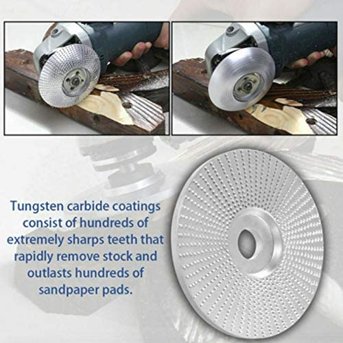 Metyere Wood Tungsten Carbide Grinding Wheel Sanding Carving Tool Abrasive Disc for Angle Grinder
