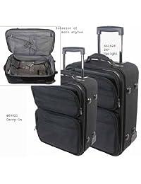 Bond Street, Ltd. Overnight Carry-On Case, Nylon, 14w x 9d x 21-1/2h, Black