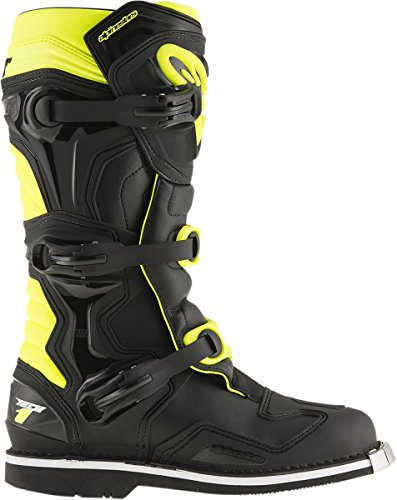 Alpinestars Mens Tech 1 Boot (Black/Yellow, 15) by Alpinestars (Image #3)