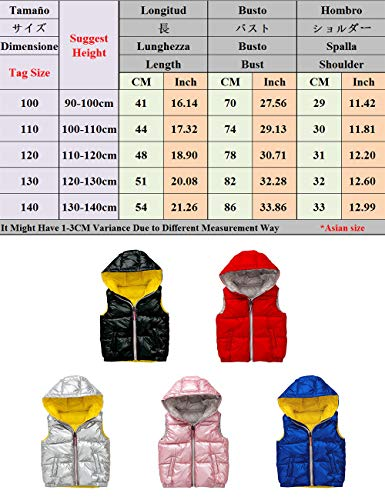 Quilted Cute Kids Black Vest Winter Waterproof Pockets with Waistcoat Snowproof for Unisex Girls Boys Padded Cotton Jacket Warm Ultralight Gilet Fall Sleeveless BESBOMIG wBqt7CxC