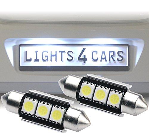 B500 2x 36mm C5W 3x 5050SMD CanBus LED Soffitten Xenon Look Kennzeichenbeleuchtung Nummernschildbeleuchtung Weiß ohne Fehlermeldung