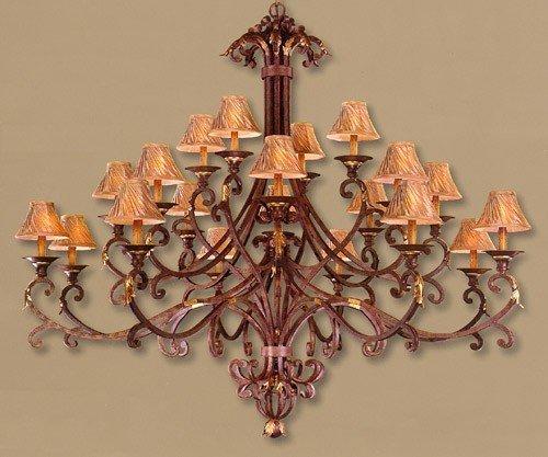 - Minka Metropolitan N6245-355 Zaragoza - Twenty Light 2-Tier Chandelier, Golden Bronze Finish with Amber Mist Glass
