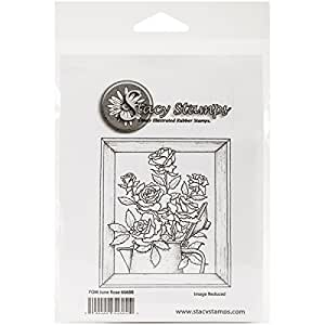 """Stacy Stamps Cling Mounted Stamps, 3"""" x 3.5"""", Rose"""