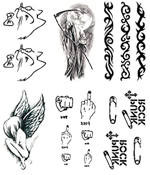 Oottati 6 Hojas Pequeño Lindo Tatuaje Temporal Tattoo Stick Figure ...