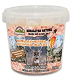 Himalayan Nature Natural Pink Rock Salt Deer Mineral Chunks (6-8LBS),Deer Love To Lick 'EM!