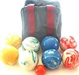 Premium Quality EPCO Tournament Marbleized Bocce Set - 107mm. Bag included. [Misc.]