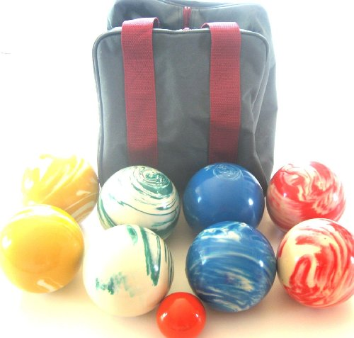 Premium Quality EPCO Tournament Marbleized Bocce Set - 107mm. Bag included. [Misc.] by Epco
