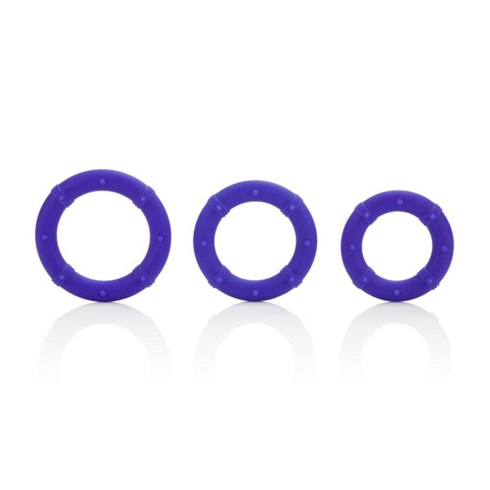 Posh Silicone Love Cock Rings Purple 3 Each