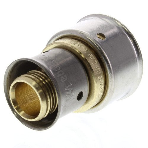 Zero Lead Bronze 1/2inch x 3/4inch PEX Press Coupling whit Attached Sleeve