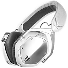 V-MODA Crossfade Wireless Over-Ear Noise Isolating Headphones, White Silver