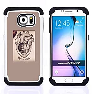 - heart medicine text love valentine - - Doble capa caja de la armadura Defender FOR Samsung Galaxy S6 G9200 RetroCandy